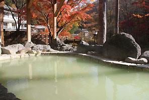温泉(緑色)