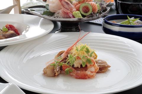 夕食魚料理一例