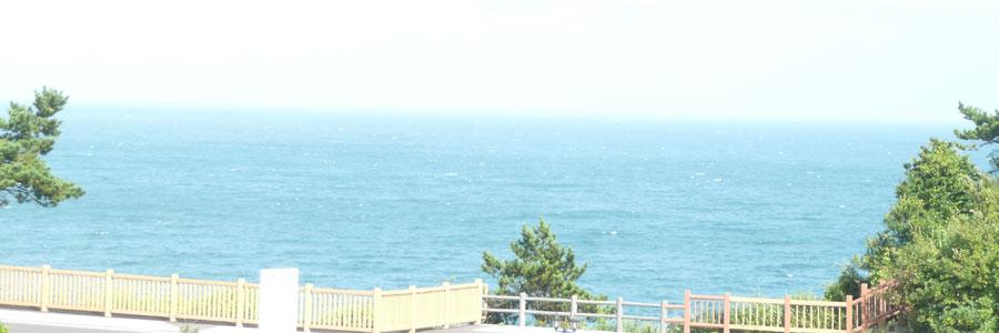海の見える温泉大浴場