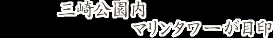 三崎公園内 マリンタワーが目印